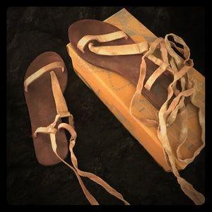 Free People Sandal Dalia Leather Lace up